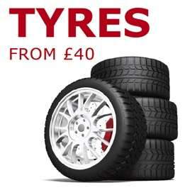 Solihull MOT - Tyres from £40